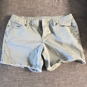 Lauren Conrad Denim Shorts in Greenish Grey.